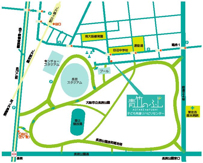 長居公園前地図